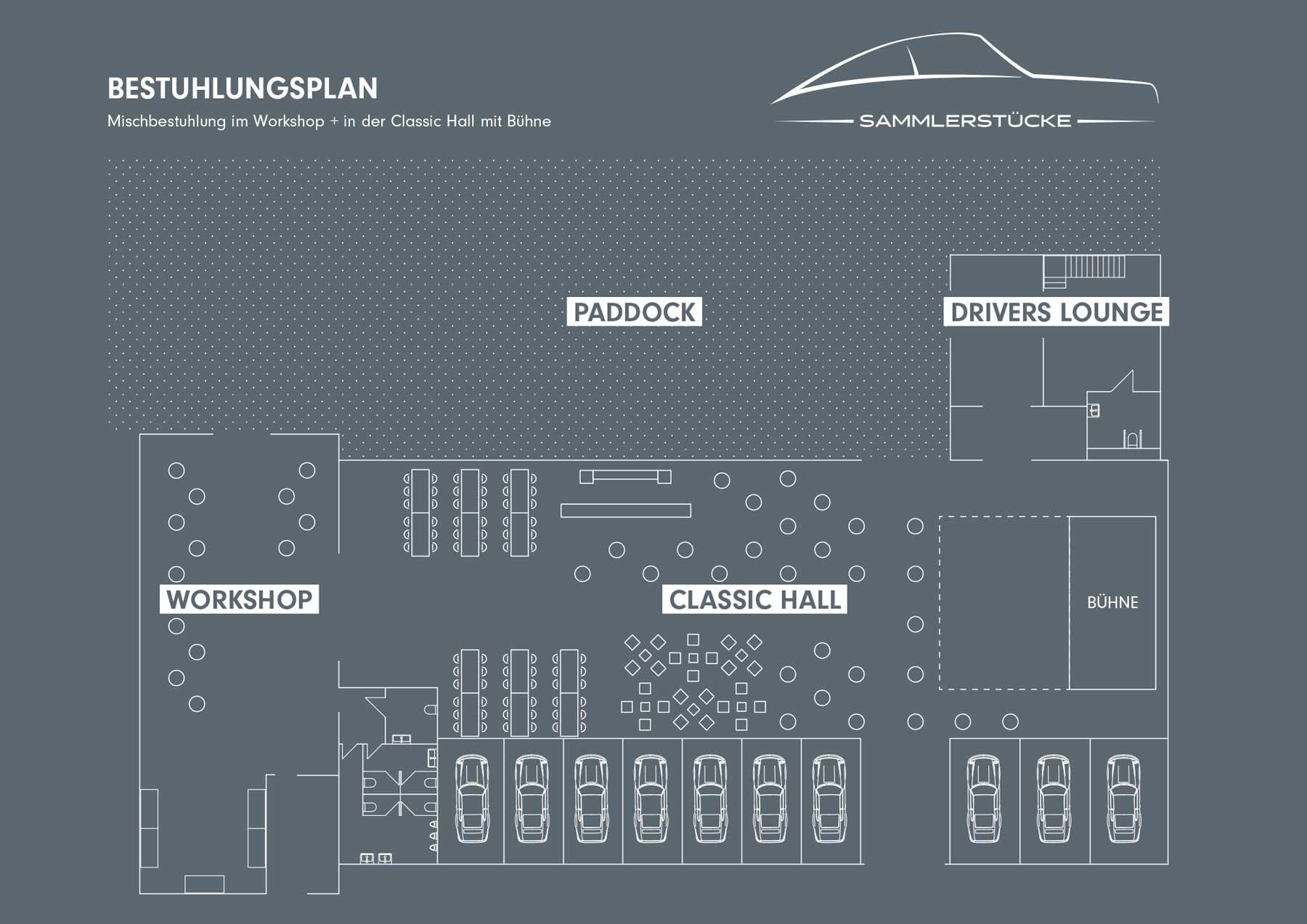 Mischbestuhlung Classic-Hall – Sammlerstücke Moers