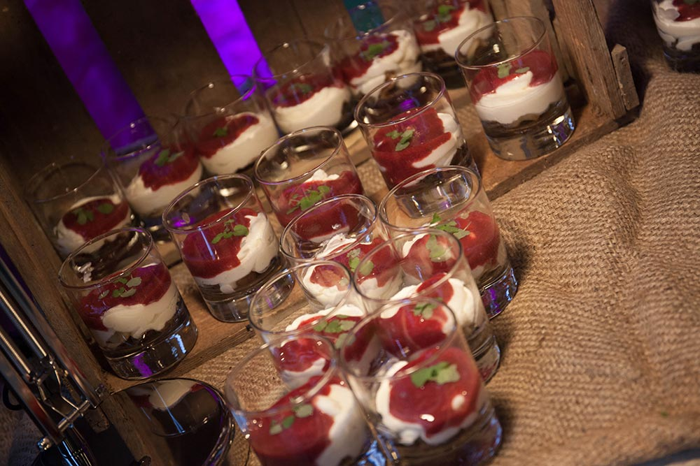 Dessert bei Buffet Station – Sammlerstücke Eventlocation Moers