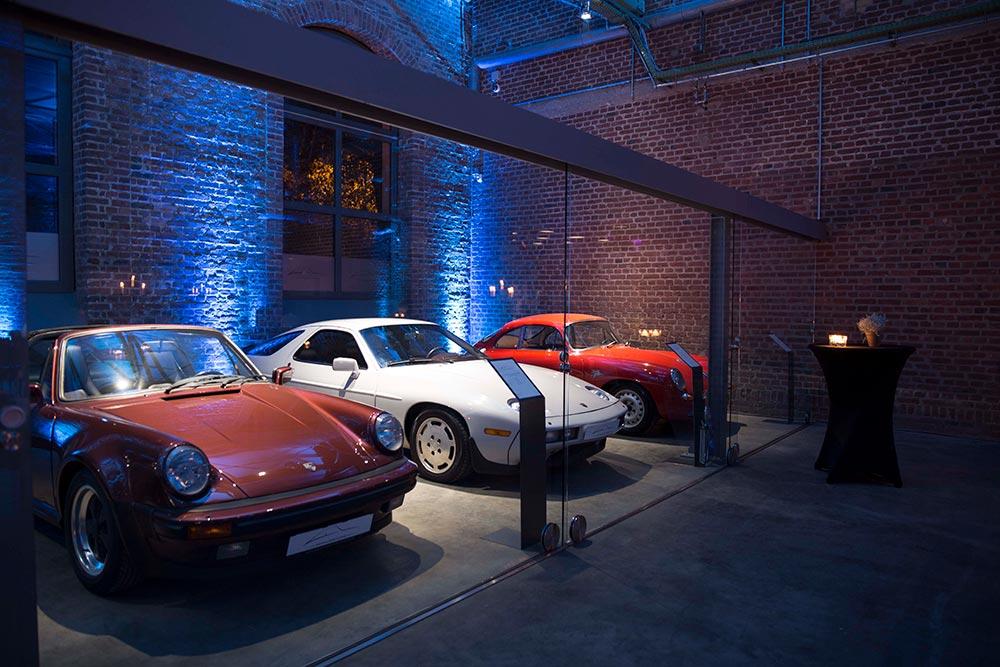 Porsche Oldtimer Classic Hall – Sammlerstücke Eventlocation Moers